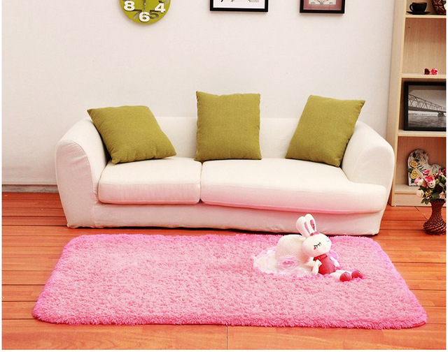 New Beige Pink Floor Mats Modern Shaggy Area Rugs Carpets House ...
