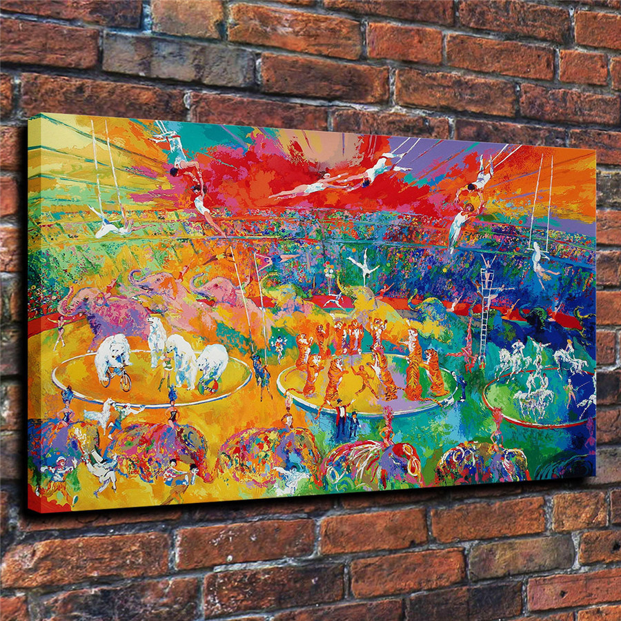 LeRoy Neiman Music and Sports Event Color Print Canvas Painting Living Room Bedroom Home Decor Modern Mural Art Oil Painting#078