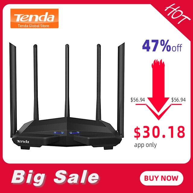 Nuevo repetidor Wifi Tenda AC11 Gigabit de doble banda AC1200 Router inalámbrico con 5 * 6dBi antenas de alta ganancia más amplias cobertura fácil configuración
