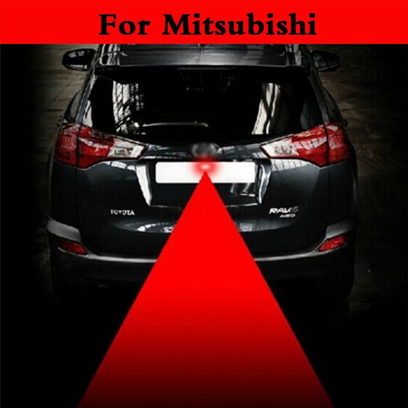 auto Laser Tail Light Safe Led Back Rear Warn Fog lamp For Mitsubishi Mirage Montero Sport Outlander Pajero Mini RVR Space Star  2003 2008 year for mitsubishi pajero sport montero sport nativa pajero dakar led tail lamp rear light all smoke black color sn