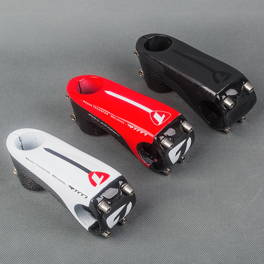 New Arrvial Ultralight Glossy Full 3k Carbon Road Bike Stem 6 Degrees 80/90/100/110mm Mountain Bicycle Parts 145g new temani full carbon adjustable angle bicycle stems 0 degree to 45 degree mtb road bike stem parts 31 8 90 100 110 120mm