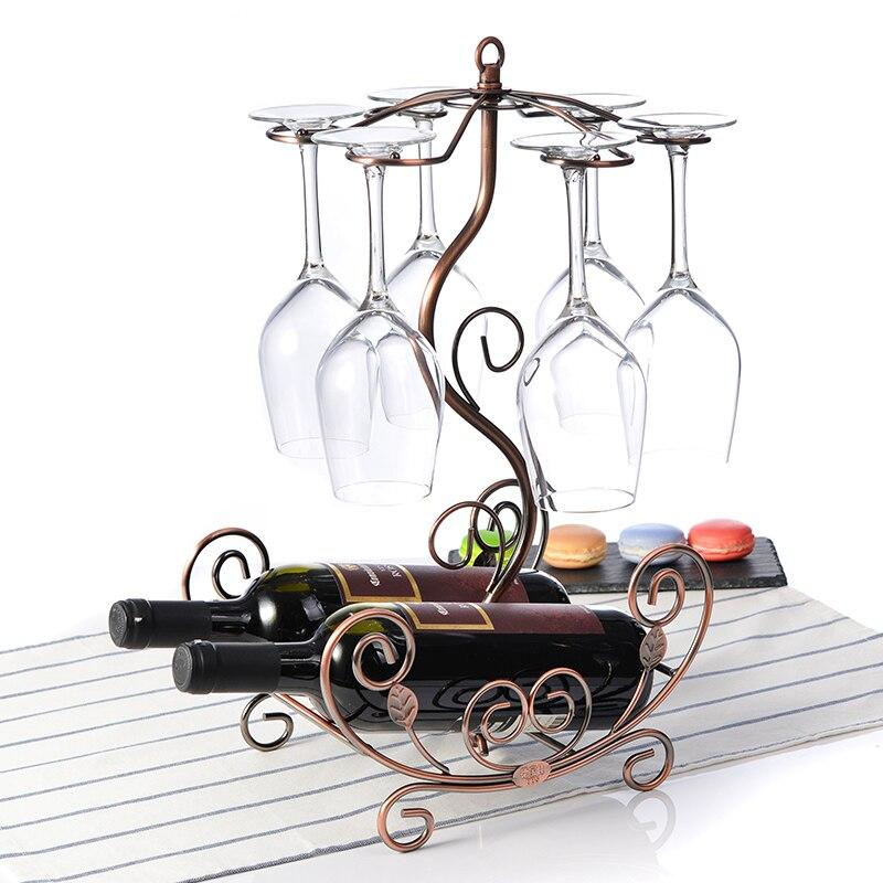 European style wine glass rack hanging bottles metal racks wine bottles glass organizers home decorations цены онлайн