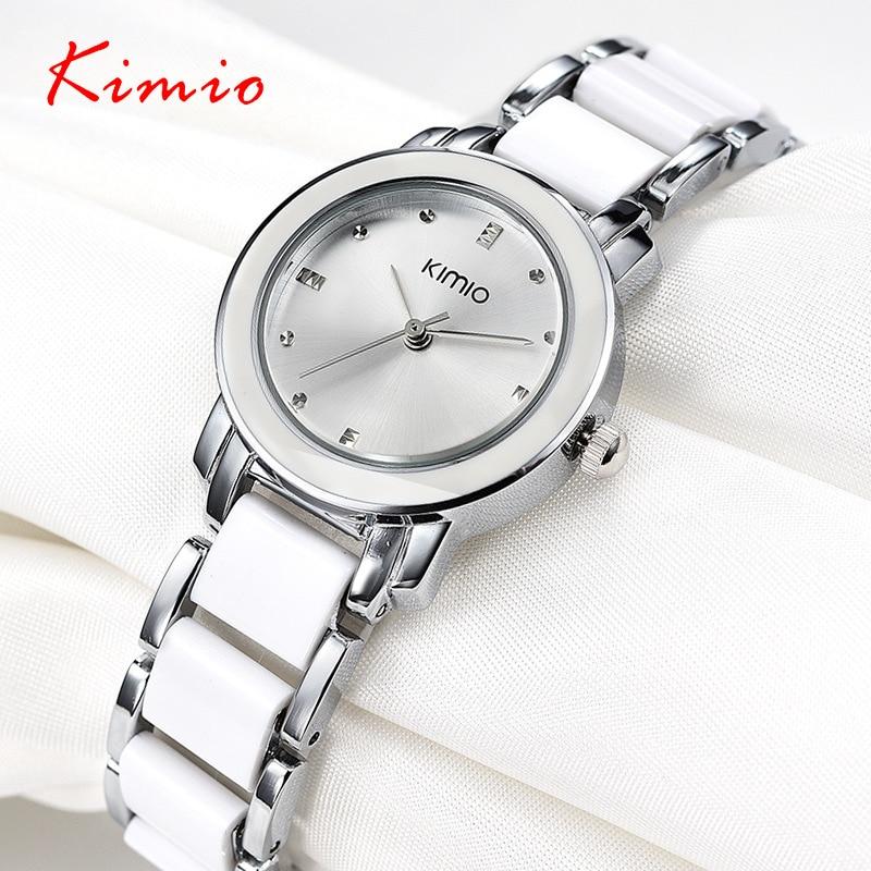 2018 New Hot Watches Women Bracelet Ceramic Round Case Shape Analog Steel Skeleton Unisex Antique Quartz-watch Men Reloj Hombre