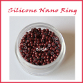 Free shipping  Silicone nano ring,the smallest silicone nano bead,micro bead with silicone  for nano tip hair,color 13#