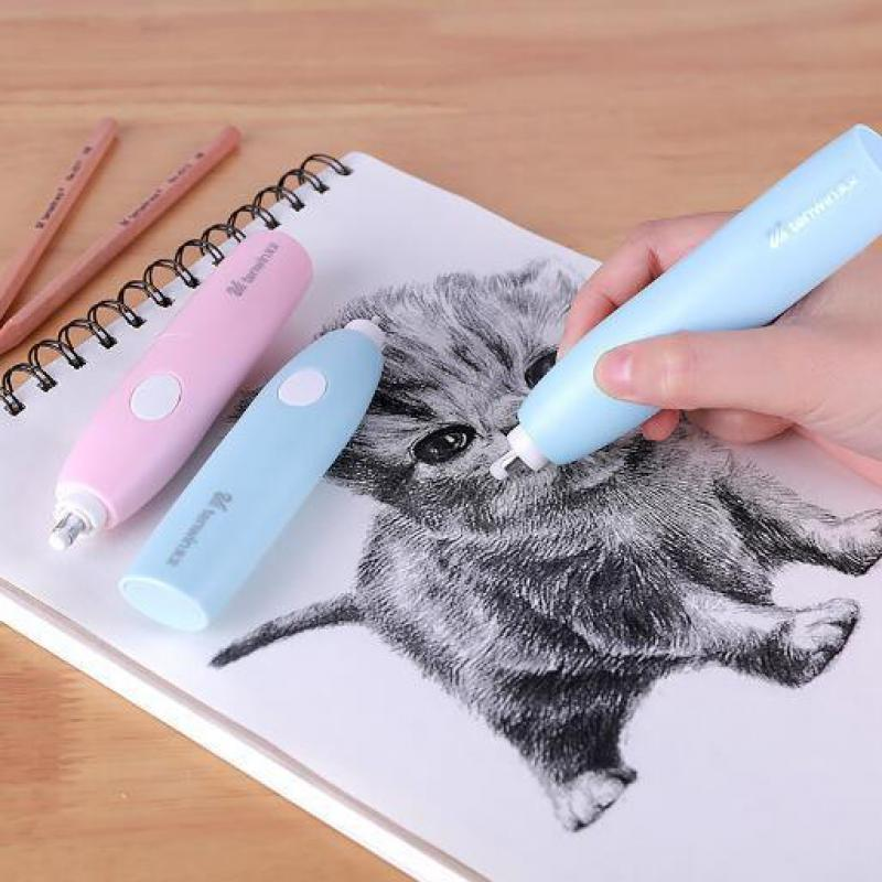 Adjustable Pencil Electric Eraser School Rubbers Kawaii Electronic Erasers For Kids Cute Stationery Office Supplies