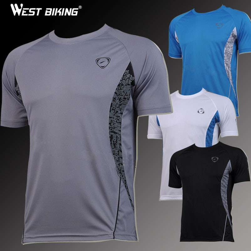 WEST BIKING Cycling Sport Men Bike Bicycle Breathable T Shirts Quick Dry Cycling Running Jerseys Male Short Sleeve T-shirts new 2018 cycling jerseys men s maillot ropa ciclismo short sleeves clothes men bike bicycle t shirts slim fit quick dry t shirts