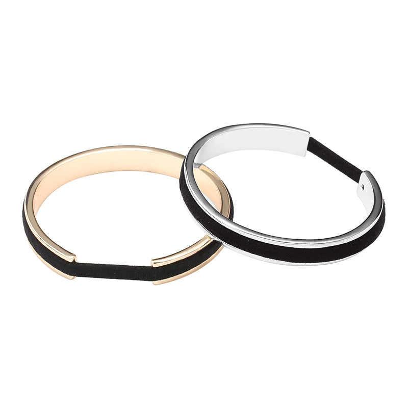 30 pieces lot Hair Tie Bracelets For Women Men Rose Gold Color Silver Color  Metal 54147a40669