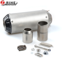 36 51MM Universal Motorcycle Exhaust Carbon Motorbike Exhaust Pipes Bike Muffler For BMW F800GS F800S F800R F800GT r1200gs HP2