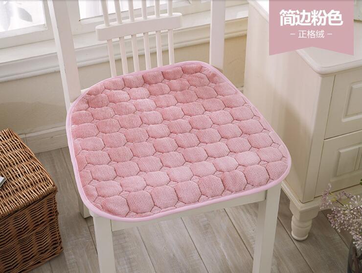 2016 2 Pcs Extreme Fashion High Quality Plush Fabric Cushion Dining Chair Pad Machine Washable Slip Free Shipping LH729
