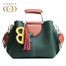 Coofit Ladies Top Handle Bag European And American Style Fashion Tote Bags Female PU Leather Crossbody sac bandouliere femme