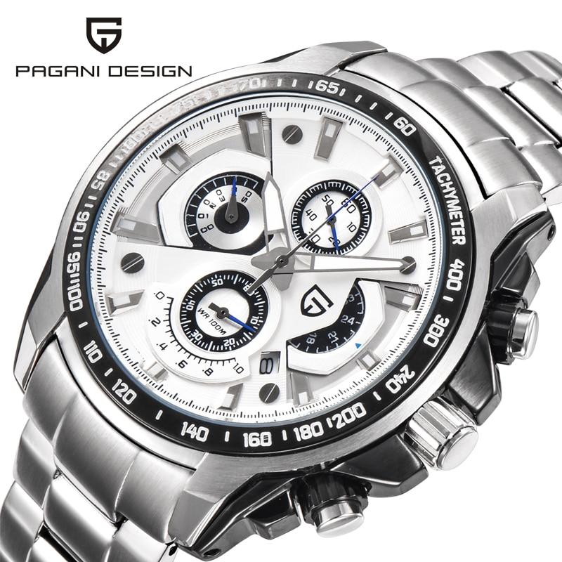 ФОТО Original Brand Pagani Design Watches Men Stainless Steel Quartz Watch Fashion Casual Male Wristwatches Relogio Masculino 2016