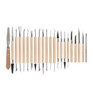 Image 5 - DINIWELL 45 sztuk ceramiki do rzeźbienia w glinie zestawy narzędzi dla początkujących profesjonalny atystyczny rzemiosło drewniany uchwyt modelowania glina ceramiczna narzędzia