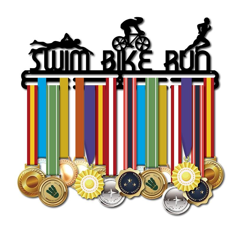 DROP SHIPPING medal hanger Sport medal hanger for swim bike run Triathlon medal holder
