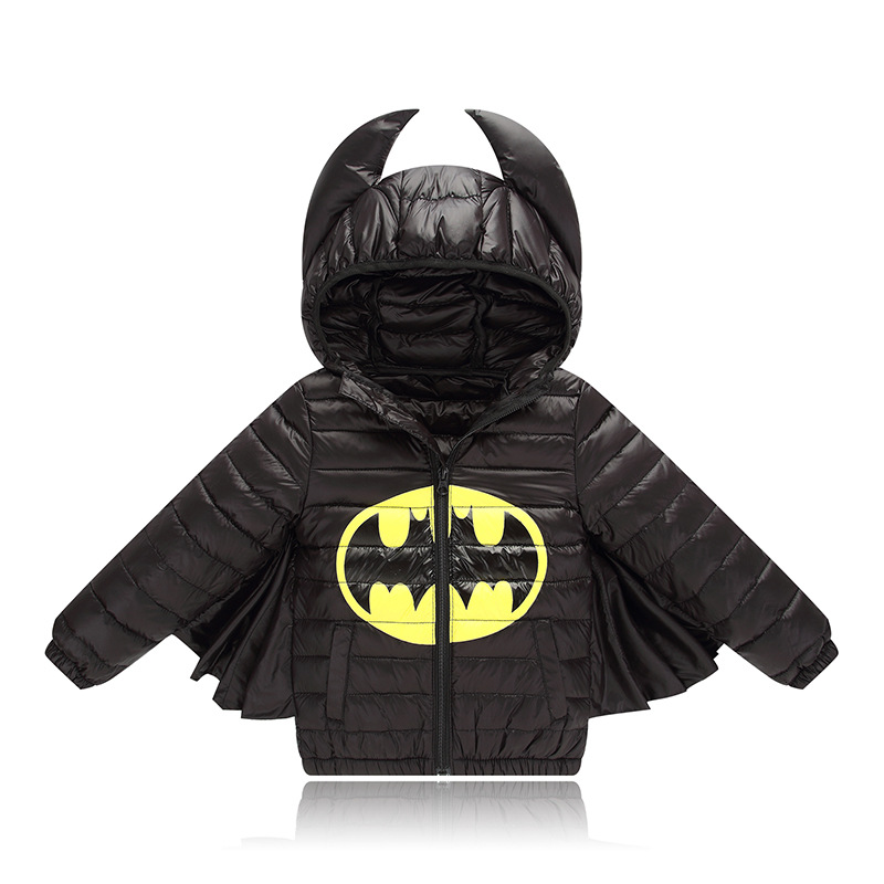 Batman Outerwear Baby Down Coat Parka Winter Warm Jacket Baby Boys Girls Hooded Kids Marvel's The Avengers Snow Coat children winter coats jacket baby boys warm outerwear thickening outdoors kids snow proof coat parkas cotton padded clothes