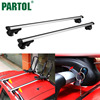 Partol 2x Universal Car Roof Rack Cross Bars Roof Luggage Carrier With Anti Thief Lock Key