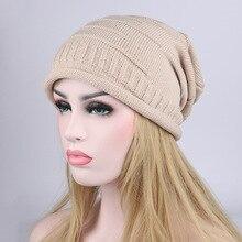 Women Men Knitting Beanie Hip-Hop Winter Warm Caps Unisex Folds Hats for Feminino