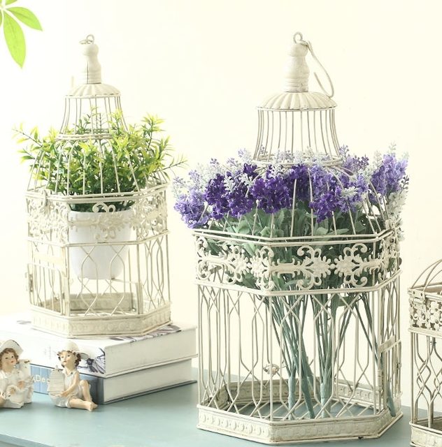 Workshop home decoration decorative wrought iron bird cage retro workshop home decoration decorative wrought iron bird cage retro flower garden ornaments wedding decorations junglespirit Image collections