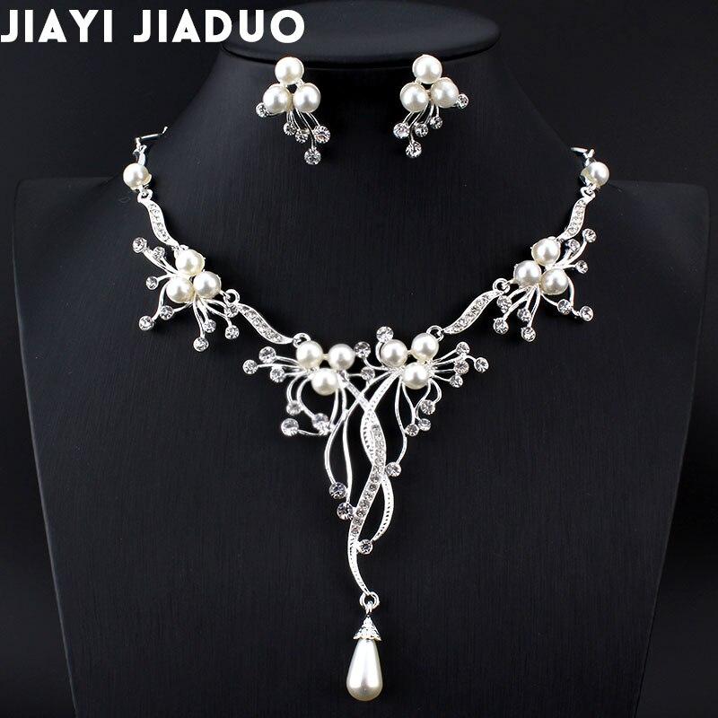Spiksplinternieuw Jiayijiaduo Imitatie Parels Bruids Sieraden Sets voor Vrouwen ZR-11