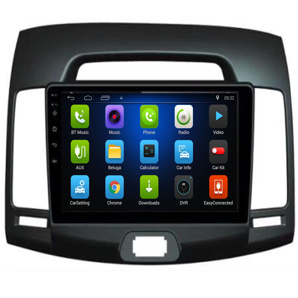 4G LTE <font><b>autoradio</b></font> <font><b>Android</b></font> <font><b>8.1</b></font> 2GB <font><b>ram</b></font>+32GB rom car dvd player for hyundai elantra 2007-2011 multimedia radio gps tape recorder image