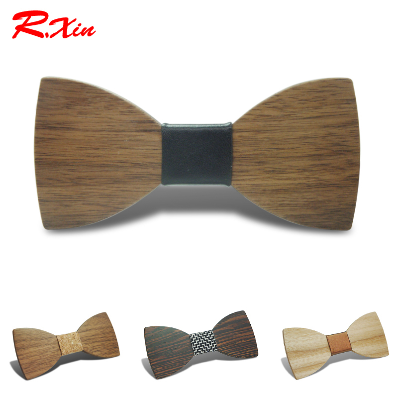 2016 New Design Pajaritas Handmade Annatto Hardwood Mens Wooden Bow Ties Gravatas Corbatas Business Party Ties For Men Wood Ties