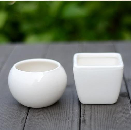 2017 New White Ceramic Plant Pots Crafts Flower Planters Mini Good Qulity Free Shipping In From Home Garden On