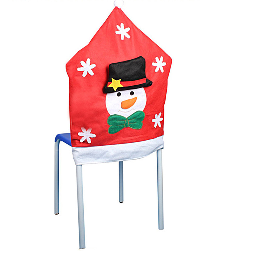 Lovely Pet 1PC Christmas Snowman Chair Covers Dinner Table Decor Party Home Drop