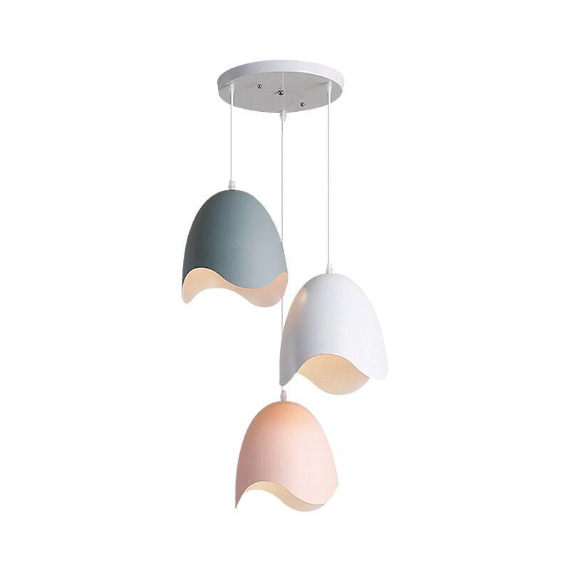 Современный простой алюминиевый подвесной светильник яичной скорлупы модель украшения Освещение Фойе Спальня Ресторан Макарон пост совре...