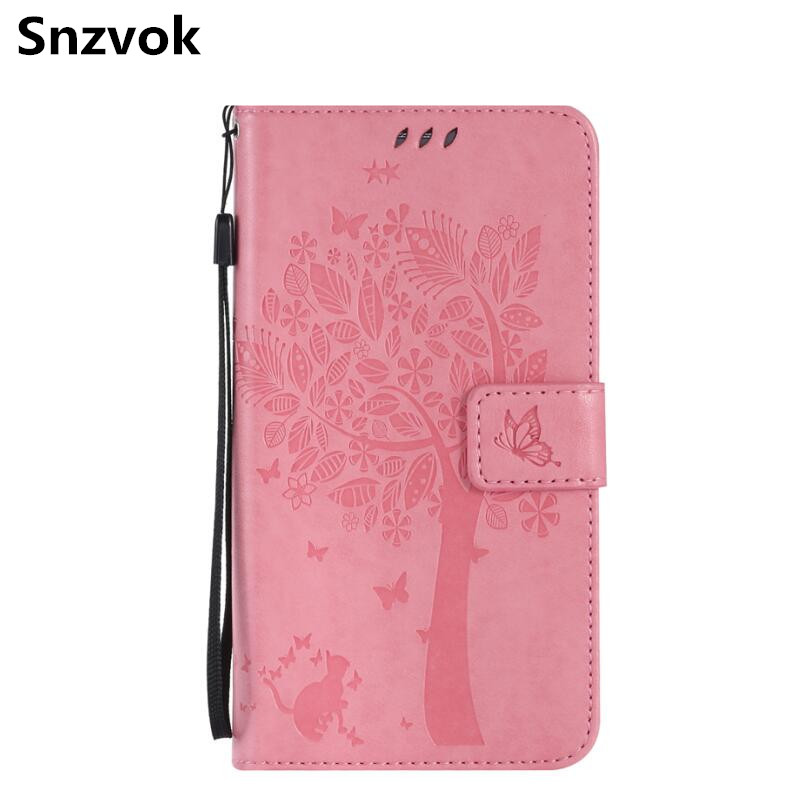 Snzvok Cat Tree Printed Pattern PU Leather Wallet Card Stand Case Cover For iphone 8 7 6 plus 6s plus 4G 4s 5G 5s 5c 6G 6s SE