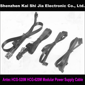 High quality 5Pin to SATA / 5Pin to IDE / 6+2 Pin PCI-E / Dual 6+2-Pin Modular Power Supply Cable for Antec HCG-520M HCG-620M(China)