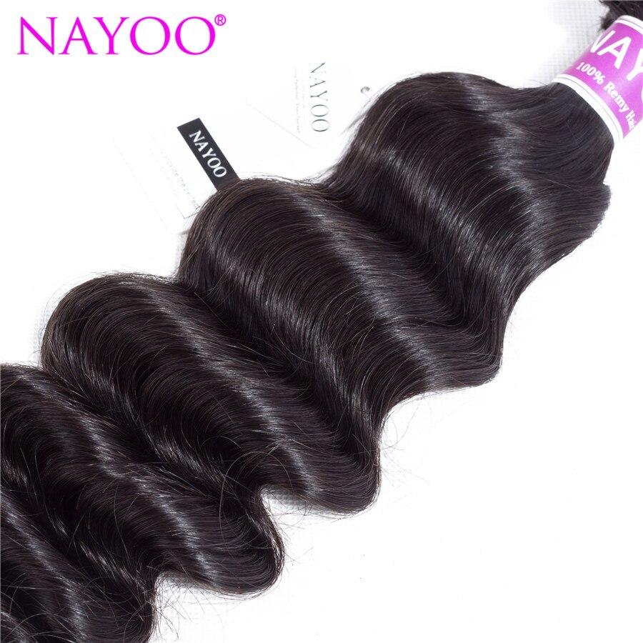 Nayoo натуральный Цвет свободные Deep монгольский пучки волос плетение Волосы Remy машина двойной уток 8-26 дюймов можно купить 3 пучки