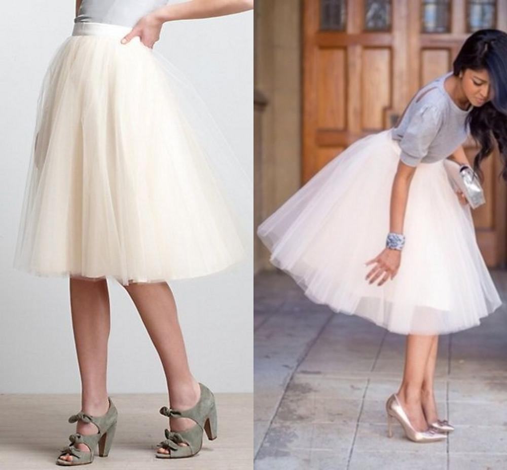 High Waisted Tulle Skirt - Skirts