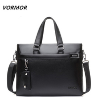 VORMOR Brand 2018 Men Casual Shoulder Bag Business Briefcase PU Messenger Bags Computer Laptop Handbag Bag