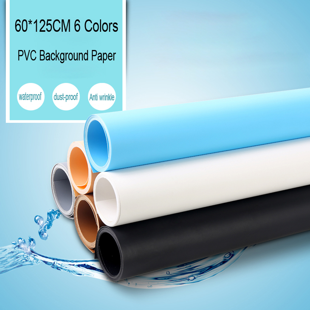 60 125CM PVC photo studio Material background 6 colors can choose Backdrop Anti wrinkle Photography Background