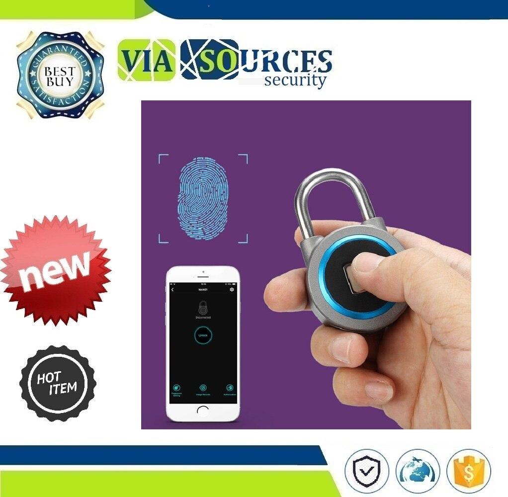 Mini Bluetooth serrure téléphone APP étanche sans clé serrure d'empreintes digitales déverrouiller Anti-vol cadenas serrure de porte IP65 sécurité
