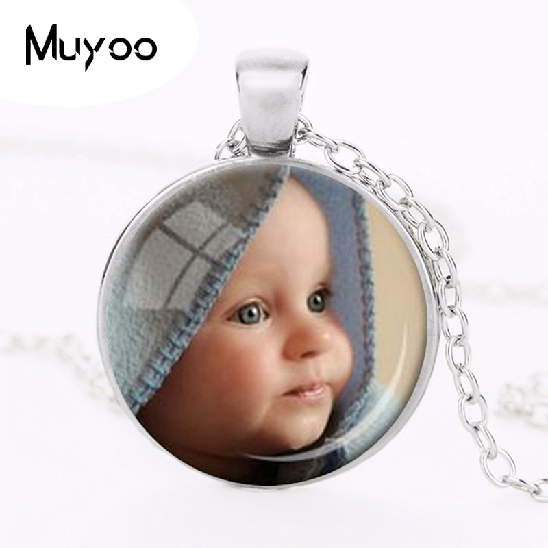 PENDIO POTOLEIDDIOL PERSONOLAIDD Necklace Custom Photo of Your Baby Child Mom Dad Tad-cu a Theid Rhodd Un Rhodd i Aelod Teulu OMG HZ1