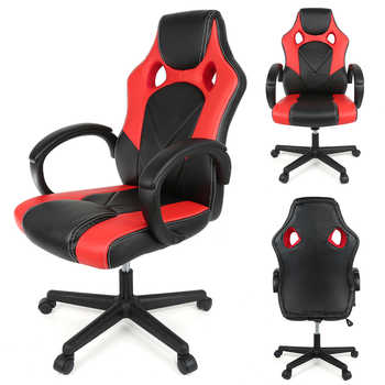 New Computer Desk Chair Gamer Chair Fashion Executive Chair Office Meeting Chair Lifting Swivel Synthetic Leather Chair HWC - DISCOUNT ITEM  29% OFF All Category