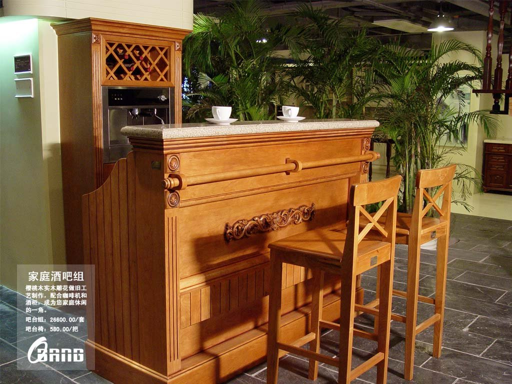 High end solid wood house bar customized furniture free design hb4 in other living room - Solid wood house plans ...