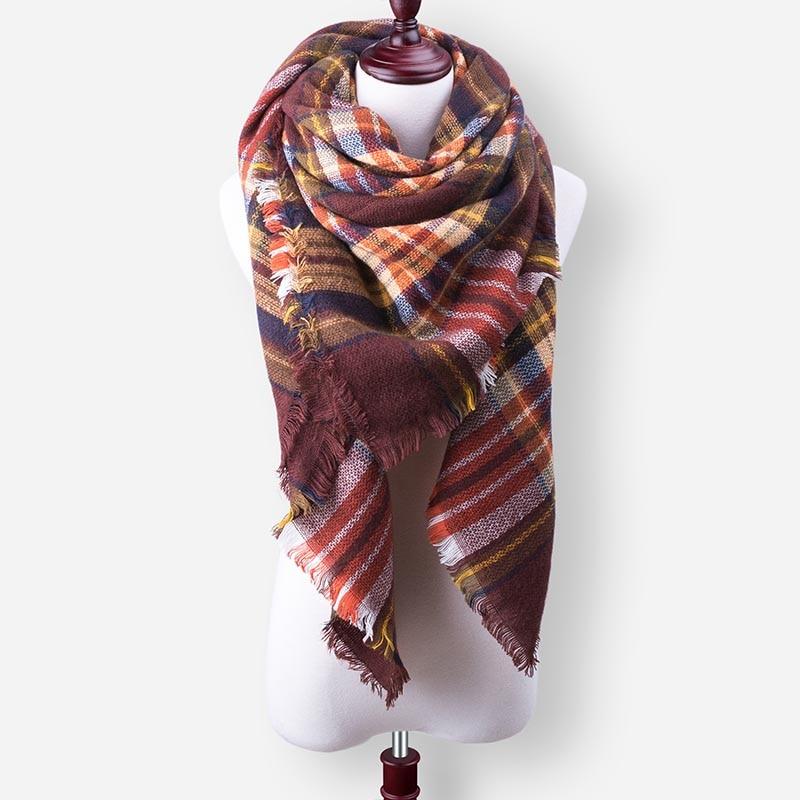 Бренд Evrfelan, шарфы, Прямая поставка, женский зимний шарф, высокое качество, плед, одеяло, шарф и шаль, большой размер, плотные шарфы, шали - Цвет: W35