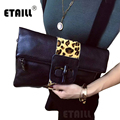 New Leopard Horsehair+Real Leather Clutch Purse Bag Horse Hair Bag Women Wristlets Designers Brand Envelope Bag Day Clutche Bags