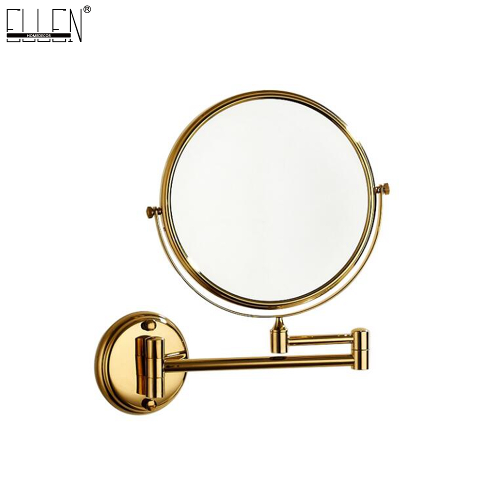 Bathroom Mirror 8 Dual Makeup Mirror Black Magnifier Copper Cosmetic Bathroom Double Faced Bath Mirror bakala dual makeup mirrors 1 1 and 1 3 magnifier copper cosmetic bathroom double faced bath mirror wall mirror br 6738