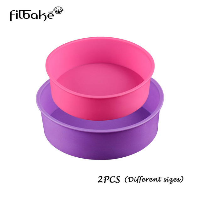 FILBAKE Home KitchenDining Pastry Tools Round Silicone Mold Set 2 Layers Mousse Cake Moulds