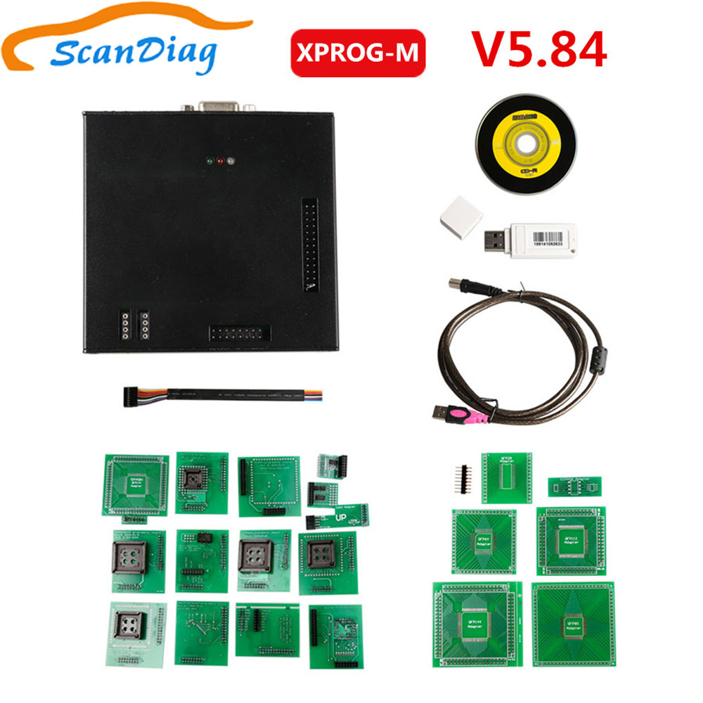 Latest Version X-PROG Box ECU Programmer <font><b>XPROG</b></font> M <font><b>XPROG</b></font>-M V5.84 with USB Dongle X Prog <font><b>XPROG</b></font>-M <font><b>5.84</b></font>/V5.74/V5.5.5/V5.50 image