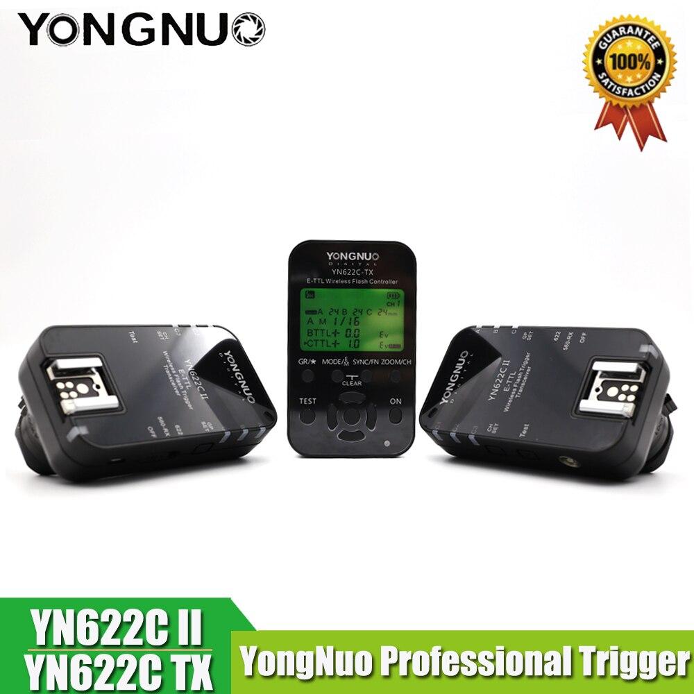 3in1 YONGNUO YN-622C II 2 триггера + YN622C-TX ЖК-дисплей контроллер ETTL Беспроводной Flash триггерные приемопередатчики для Canon Вспышка Yongnuo
