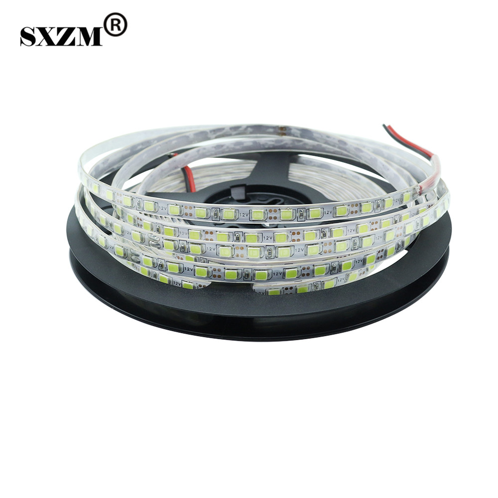 SXZM 2835 DC12V Tira de led IP20 no impermeable 120Leds / M 5mm Ancho 5Metro cinta led luz decoración de interior Blanco / Cálido Blanco / R / G / B
