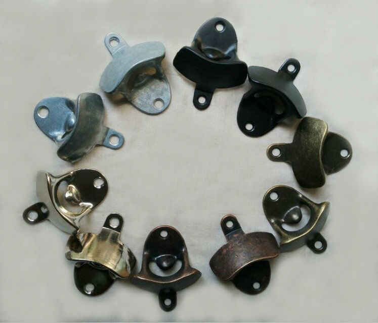 6pcs/lot Alloy Wall Mount Bottle Opener Beer Opener