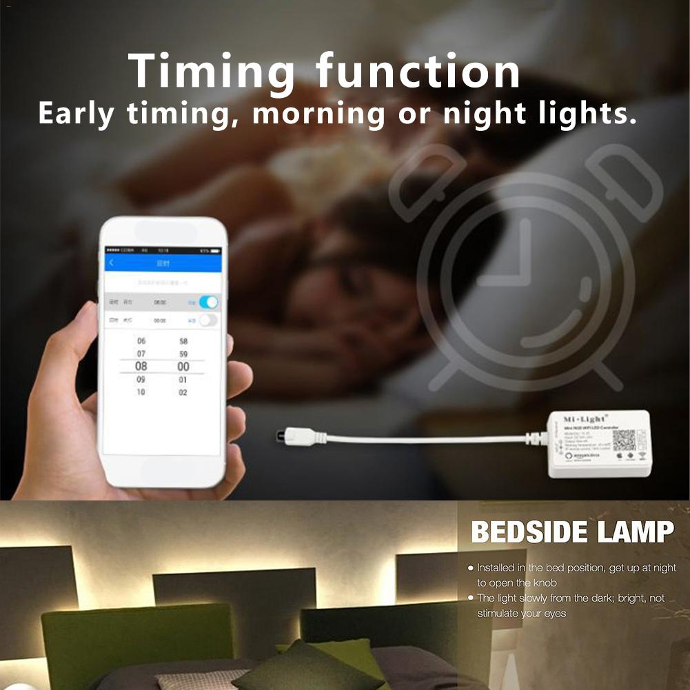 Kaigelin WIFI RGB LED Strip Light Controller Phone APP/Voice Control for LED Strip With 24 Key Remote Control mini wifi rgb strip light controller with music control and voice control compatible with google home
