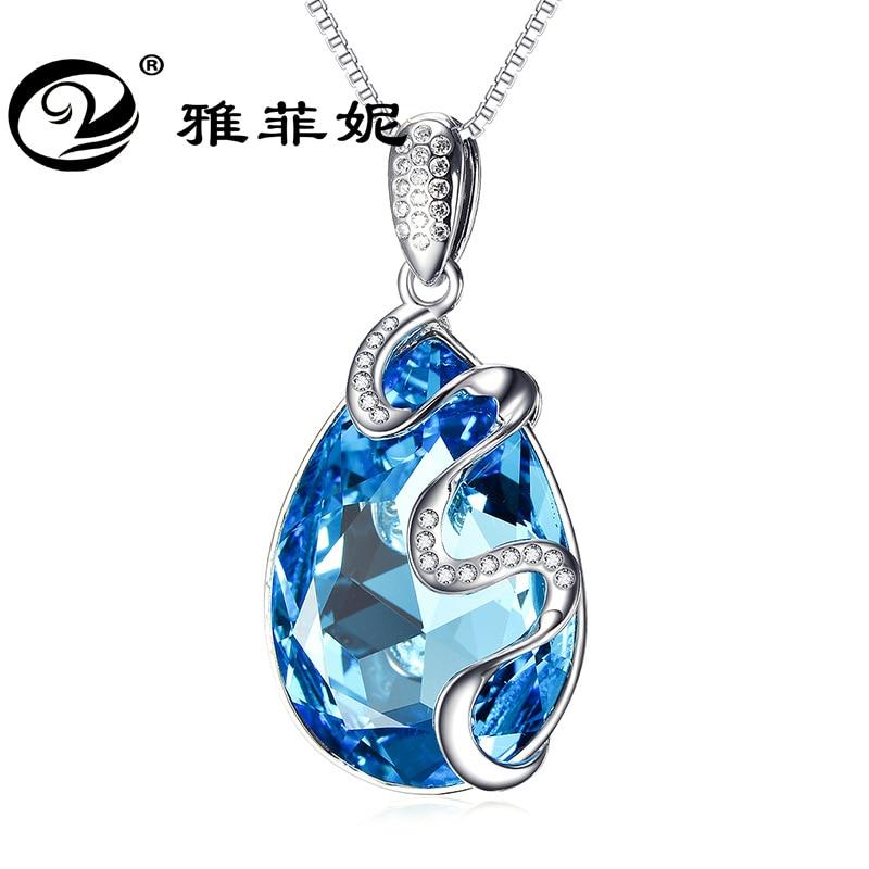 Серебряное ожерелье австрийский кристалл кулон ключицы цепи Производители Продажа обязуется к детонации модели