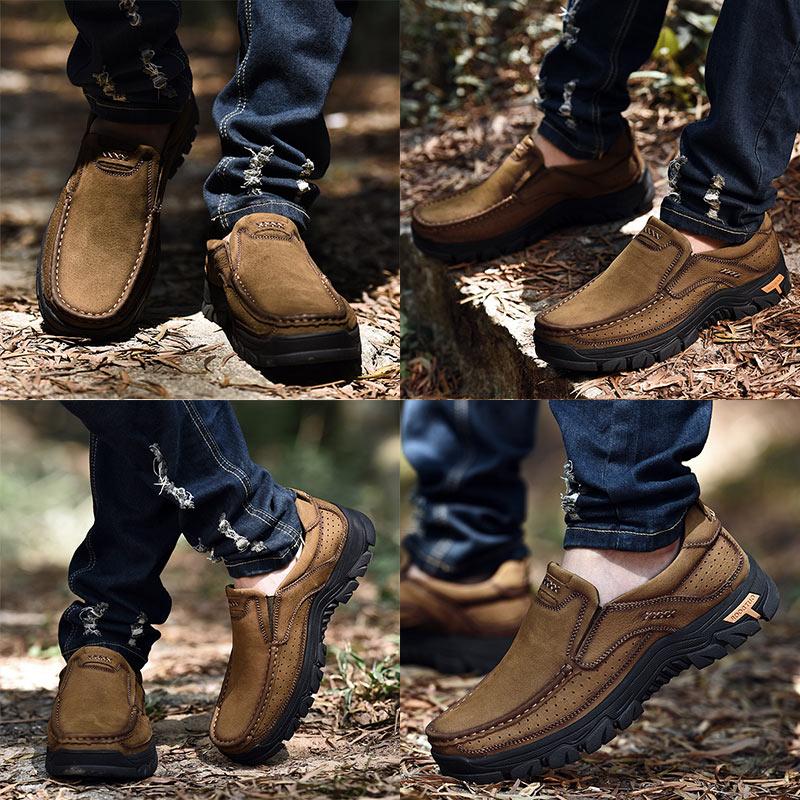 Pria Kulit Sepatu Kasual Oxfords Handmade sepatu Lace Up Gennine - Sepatu Pria - Foto 5