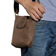 Vintage Men Travel Small Shoulder Bags Crossbody Bags