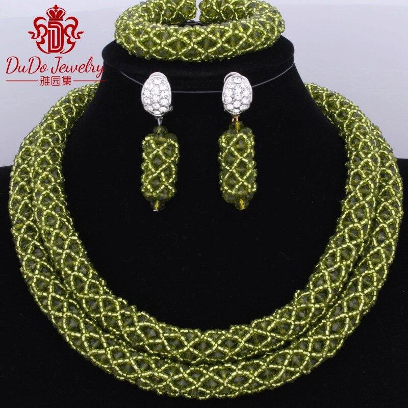 Livraison gratuite Chunky bavoir collier ensemble Dubai indien mariage perles ensemble pour mariée fête Sage noël Costume bijoux pendentif ensemble